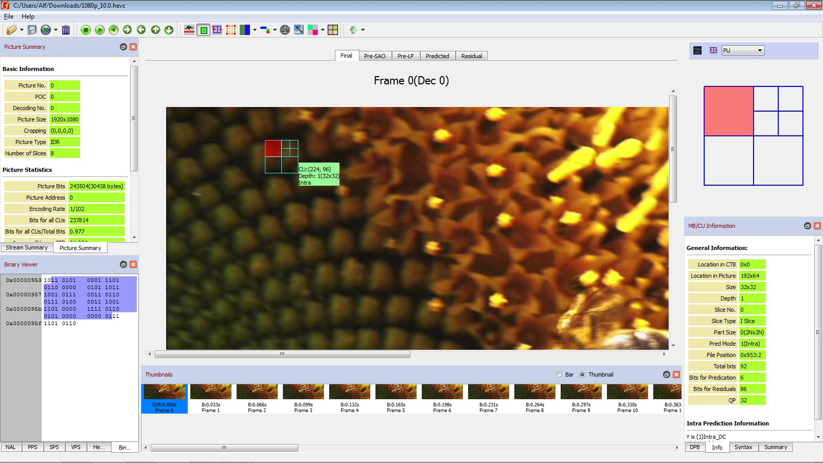 Powerful video codec analyzer for professionals & researchers